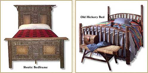 Rustic furniture adirondack style rustic beds rustic bed frames - Adirondack bed frame ...